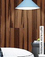 Tapeten  - Tapeten für das Schlafzimmer Holztapete, eiche kupfer