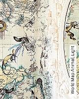 Tapete  - Exotische Tapeten World Map Animal, Light