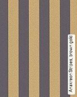 Tapete  - Herrentapete Anakreon Stripes, brown gold