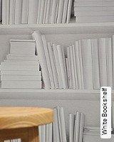 Tapete  - Herrentapete White Bookshelf