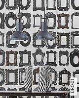 Tapete  - Schwarz-Weiß DRO-01