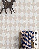 Tapete  - Skandinavisches Design Harlequin, rose
