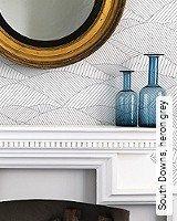 Tapete  - Skandinavisches Design South Downs, heron grey