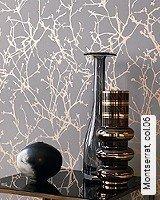 Tapete  - Tapeten in Kupfer und Rotgold Montserrat, 06