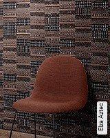 Tapete  - Tapeten in Kupfer und Rotgold Elza Aztec