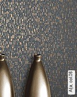 Tapete  - Tapeten in Kupfer und Rotgold Alja, 08