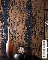 Tapete  - Tapeten in Kupfer und Rotgold Ernest, 04