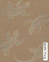 Tapete  - Tapeten in Kupfer und Rotgold Timur, 05