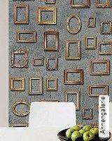 Tapete  - Tapeten in Kupfer und Rotgold Ahnengalerie