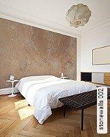 Tapete  - Tapeten in Kupfer und Rotgold stonewalls 002
