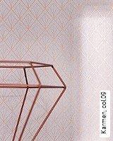 Tapeten  - Tapeten in Kupfer und Rotgold Karmen, 09