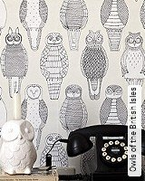 Tapete  - Animal Print Owls of the British Isles