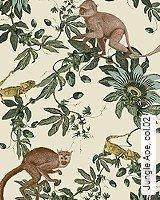Tapete  - Animal Print Jungle Ape, 02