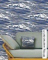 Tapete  - Animal Print Whitby, washed denim