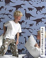 Tapete  - Animal Print Dya-think-e-saurus Blue
