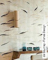 Tapete  - Animal Print de Gournay - Fishes Design
