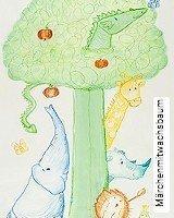 Tapete  - Animal Print Märchenmitwachsbaum