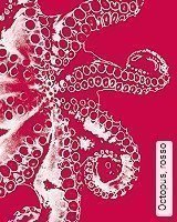 Tapete  - Animal Print Octopus, rosso