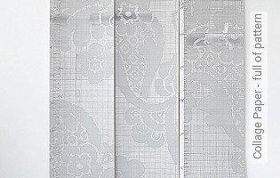 Bild Tapete - Collage Paper - full of pattern