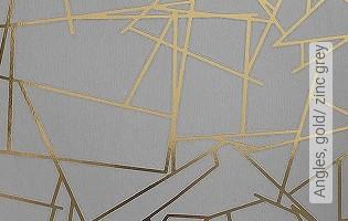 Bild Tapete - Angles, gold/ zinc grey