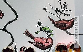 Bild Tapete - Pavilion Birds Blue