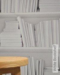 Tapete: White Bookshelf