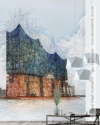 Tapete: Hamburg Elbphilharmonie - Type Expression - Ingo Krasenbrink Design