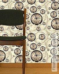 Tapete: Floating Clocks, col.01