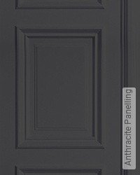 Tapete: Anthracite Panelling