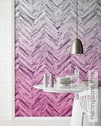 Tapete: Herringbone, Pink