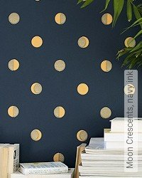 Tapete: Moon Crescents, navy ink