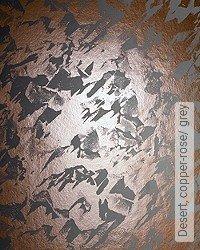 Tapete: Desert, copper-rose/ grey