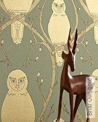 Tapete: Briar Owl, gold