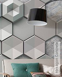 Tapete: Hexagon Concrete