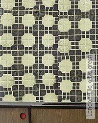 Tapete: London Tile, olive green