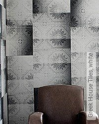 Tapete: Greek House Tiles, white