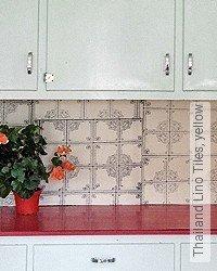 Tapete: Thailand Lino Tiles, yellow