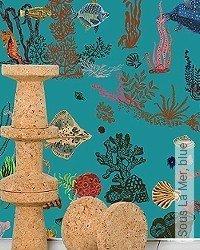 Tapete: Sous La Mer, blue