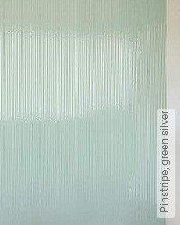 Tapete: Pinstripe, green silver