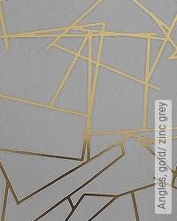 Tapete: Angles, gold/ zinc grey