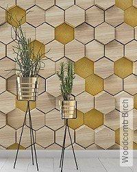 Tapete: Woodcomb Birch