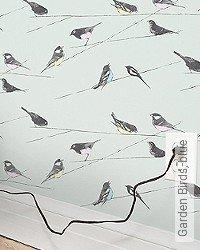 Tapete: Garden Birds, blue