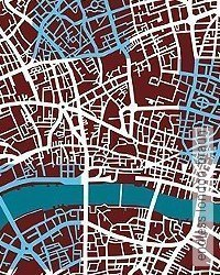 Tapete: endless london, braun