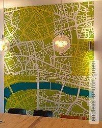 Tapete: endless london, gruen