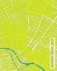 Tapete: endless berlin, grün