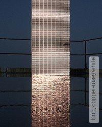 Tapete: Grid, copper-rose/white