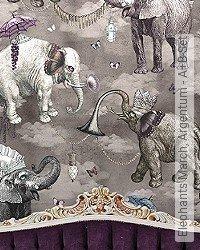 Tapete: Elephants March, Argentum - A+B-Set
