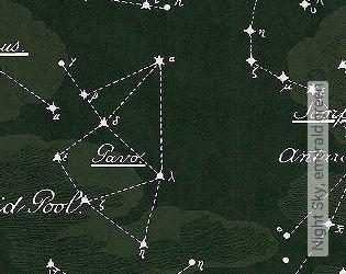 Bild Tapete - Night Sky, emerald green