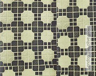 Bild Tapete - London Tile, olive green