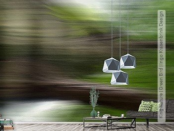 Tapete:  King Nature | Green Bird | Ingo Krasenbrink Design